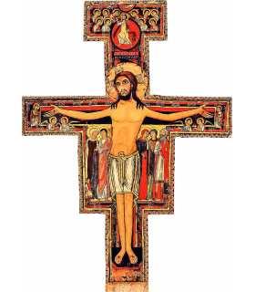 Grand Format CROIX de San Damiano de Saint François (ANCIEN)
