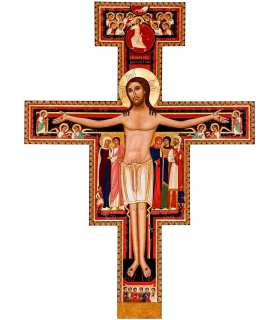 Grand Format CROIX de San Damiano de Saint François (contemporain) (GF14-0045_R1.32)