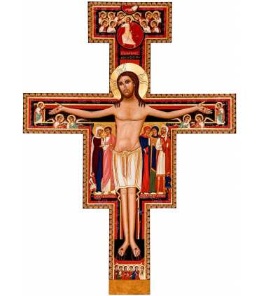 Grand Format CROIX de San Damiano de Saint François (Contemporain)