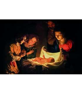 Grand Format Nativité Gerrit van Honthorst