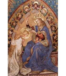 """Grand Format """"couronement de la Vierge"""" impression"""