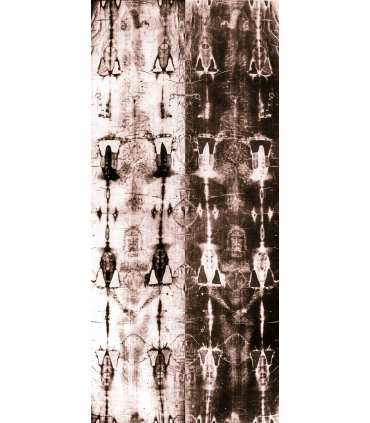 Grand Format Saint Suaire Linceul de Turin, dos/face corps entier (positif/négatif, 220x420cm) (GF15-0018_R1.90)
