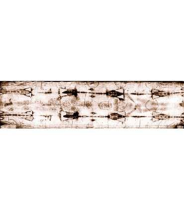 """Grand Format """"Linceul de Turin entier"""" (dos et face, négatif, 110x420cm) (GF14-0017_R3.86)"""