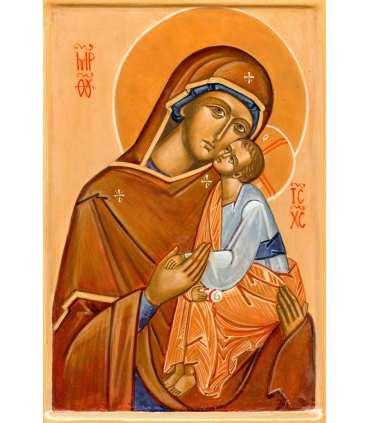 Grand Format Icône Vierge de tendresse (Ateliers du Roseau) (GF14-0020_R1.50)