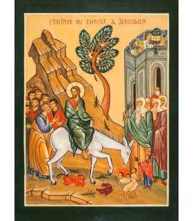 Grand format Pâques icône de la resurrection