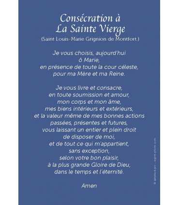 Consécration à la Vierge Marie