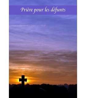 """Carte Prière """"Prière pour les défunts"""" (CA14-0004)"""