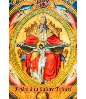"""Carte Prière """"Prière à la Sainte Trinité"""" (CA14-0005)"""