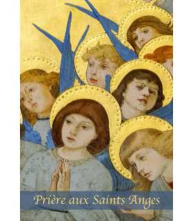 "Carte Prière ""Prière aux Saints Anges"" (CA14-0006)"