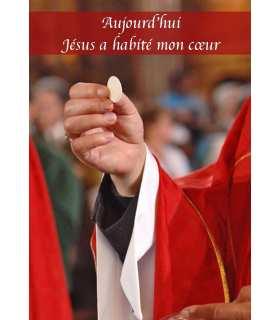 """Carte Prière """"Aujoud'hui Jésus a habité mon cœur"""" (CA14-0007)"""