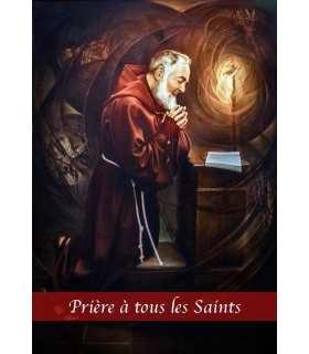 """Carte Prière """"Prière aux âmes bienheureuses de Padre Pio"""" (CA14-0010)"""