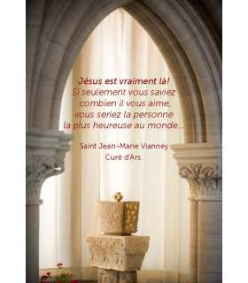"""Carte Prière """"Jésus est vraiment là"""" (CA14-0011)"""