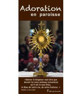 "Lot de Flyers personnalisables "" Adoration "" (FP15-0012)"