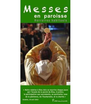 """Flyer personnalisable """" Horaires de Messes """" (FP15-0013)"""