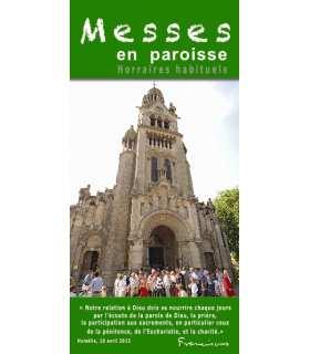 """Flyer personnalisable """" Horaires de Messes """" (FP15-0014)"""
