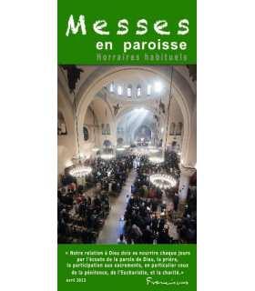 """Flyer personnalisable """" Horaires de Messes """" (FP15-0015)"""