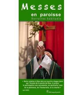 """Flyer personnalisable """" Horaires de Messes """" (FP15-0016)"""