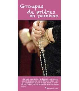 """Flyer personnalisable """" Groupes de prière """" (FP15-0017)"""