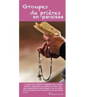 """Flyer personnalisable """" Groupes de prière """" (FP15-0019)"""