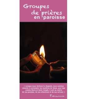 """Flyer personnalisable """" Groupes de prière """" (FP15-0020)"""