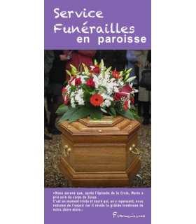 """Flyer personnalisable """" Service Funérailles en paroisse """""""
