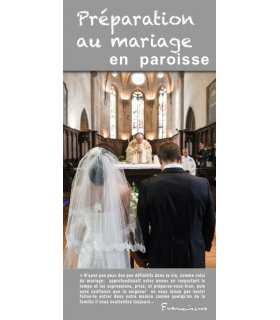 """Flyer personnalisable """" Préparation au mariage """" (FP15-0024)"""