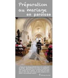 """Flyer personnalisable """" Préparation au mariage """" (FP15-0025)"""