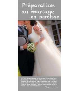 """Flyer personnalisable """" Préparation au mariage """" (FP15-0026)"""