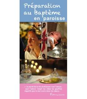 """Flyer personnalisable """" Préparation au Baptême """""""