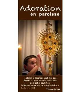 "Flyer personnalisable "" Adoration "" (FP15-0010)"