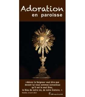 "Flyer personnalisable "" Adoration "" (FP15-0011)"