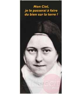 "Kakémono Ste Thérèse religieuse ""Mon Ciel..."""