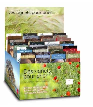 """Présentoir avec la série """"Prier avec"""" (24x10 signets - Présentoir OFFERT) (SAT0006)"""