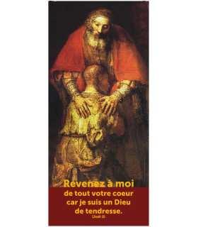 """Kakémono Pardon de Rembrandt """" Revenez à moi """" (avec texte) (KM14-0004)"""