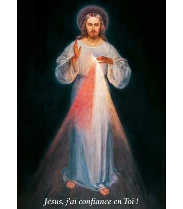 """Poster Divine miséricorde """"Jésus, j'ai confiance en toi"""" (image originale) (PO15-0005)"""