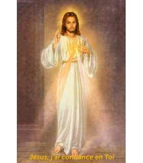 """Poster Divine miséricorde """"Jésus, j'ai confiance en toi"""" (PO15-0006)"""