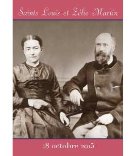 Poster Saints Louis et Zélie Martin (canonisation 18 octobre 2015)