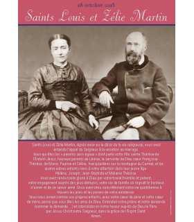 Poster Saints Louis et Zélie Martin (PRIERE)