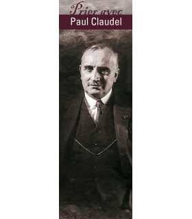 "Lot de 10 Signets ""Prier avec"" Paul Claudel"