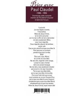 """Lot de 10 Signets """"Prier avec"""" Paul Claudel"""
