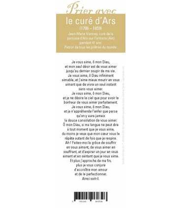 """Lot de 10 Signets """"Prier avec"""" Le curé d'Ars"""