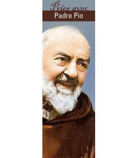 """Lot de 10 Signets """"Prier avec"""" Padre Pio"""