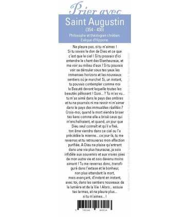 """Lot de 10 Signets """"Prier avec"""" Saint Augustin"""