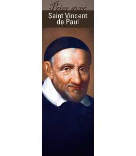 "Lot de 10 Signets ""Prier avec"" Saint Vincent de Paul"