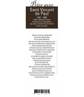 """Lot de 10 Signets """"Prier avec"""" Saint Vincent de Paul"""