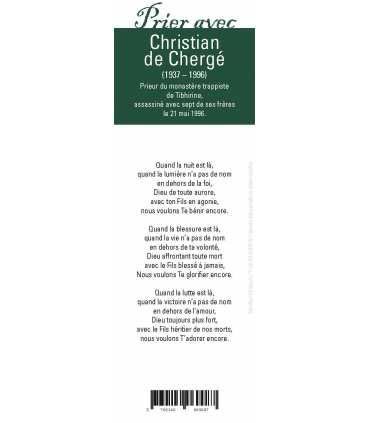"""Lot de 10 Signets """"Prier avec"""" Christian de Chergé"""