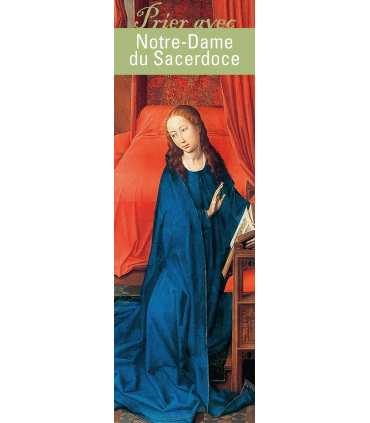 """Lot de 10 Signets """"Prier avec"""" Notre-Dame du Sacerdoce"""