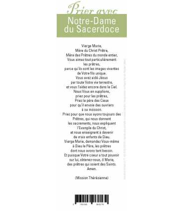 "Signet ""Prier avec"" Notre-Dame du Sacerdoce"