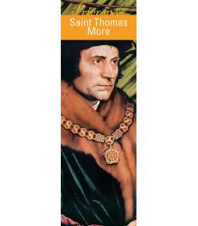 "Lot de 10 Signets ""Prier avec"" Saint Thomas More"
