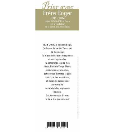 """Lot de 10 Signets """"Prier avec"""" Frère Roger"""
